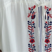 Vintage Embroidery Cover Up Beach Dress