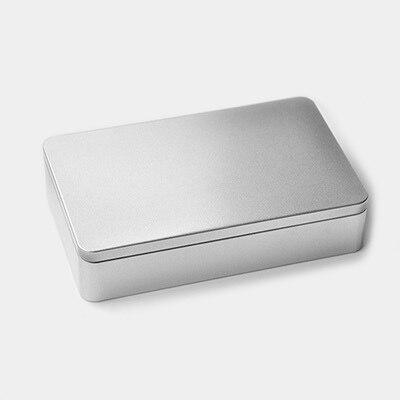 215x135x48mm Vysoce kvalitní obdélník stříbrný cínový box těsnící kovový box na uskladnění cukroví případ 20 ks / hodně
