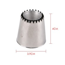 2 Sizes DIY Nozzle Stainless Steel Dessert Cake Decorating Tips Kitchen Accessories Cookie Bis Icing Piping Cream Pastry Bag