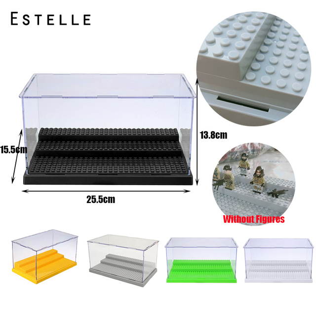 3 Steps Acrylic Dustproof Box/Case Building Block Collection Display/ShowCase Legoings Box Figures Bricks For Kids Toy Gifts