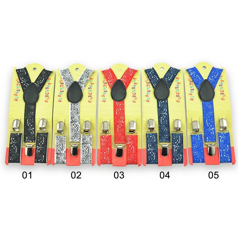 New Fashion Clothes Accessories Elastic Clip-on Adjustable Kids Children Braces Suspenders Y-Back Suspender Bandana Boys Braces