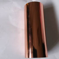 Hot stamping foil hot press on paper or plastic rose gold 16cm x 120m heat stamping film