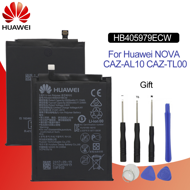 Hua Wei Original Replacement Phone Battery HB405979ECW For Huawei Nova / Enjoy 6S / Honor 6C / Y5 2019 / P9 Lite Mini 2920mah