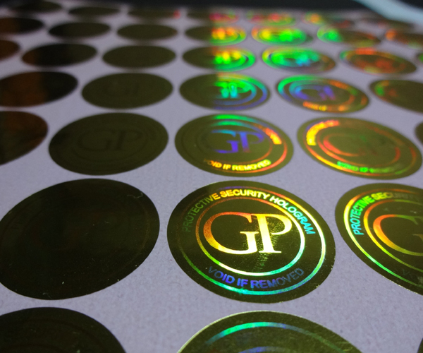 Custom made void gold hologram vinyl sticker labels free design void if removed in stationery sticker from office school supplies on aliexpress com