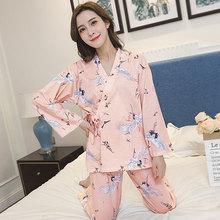 Pajamas set for adult  2018 new Japanese kimono Nightie women MT