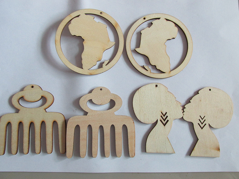 Free Shipping! Wholesale Price African Wooden Earrings can mixed 3 designs-in Hoop Earrings from ...