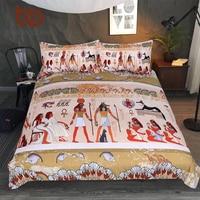 BeddingOutlet Egyptian Bedding Set Ancient Egypt Civilization Duvet Cover Characters Home Textiles African Bedclothes 3 Piece