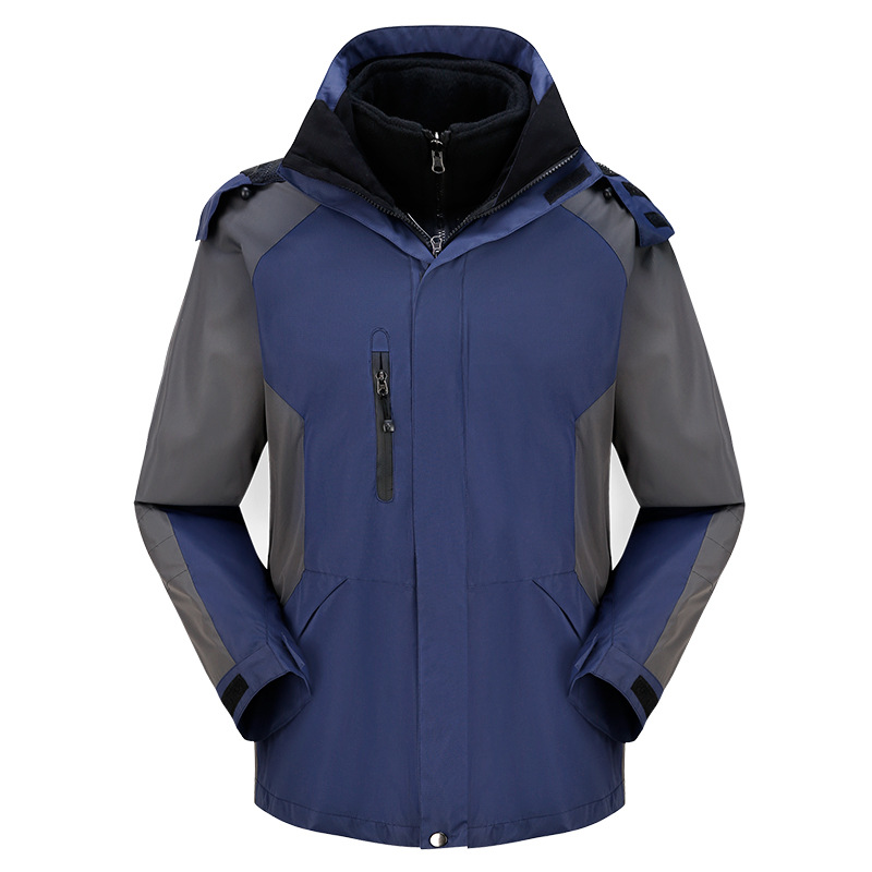 Warm Outdoor Sport Water Resistant Windbreaker Winter Jacket Men Hiking Climbing Jaqueta Masculina Camping Fleece Lining Coat new outdoor sport windbreaker waterproof jacket men hiking camping skiing climbing winter coat fleece lining jaqueta masculino