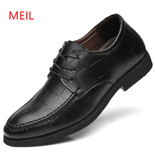 Men Fashion Height Increase Elevator Shoes 5cm Invisibly Heel for Party Wedding Daily Business Dress Oxfords Men Shoes Size37-44 цена 2017