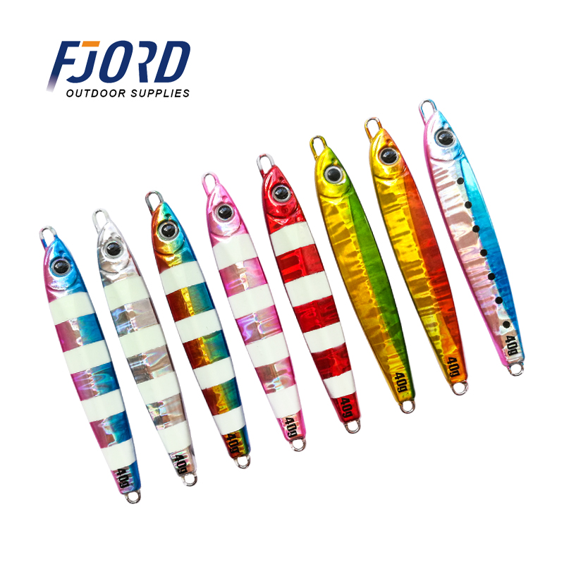 FJORD 20g 30g 40g <font><b>60g</b></font> Slow shake <font><b>Metal</b></font> Jigging sardine Long casting Laser Luminous Lead Baits Sea Fishing <font><b>Jig</b></font> Lures image