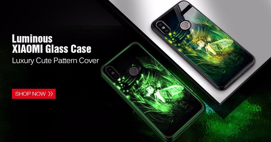 TOMKAS Silicone Glass Phone Case For Xiaomi Redmi Note 5 6 Pro Luxury Cover Case For Xiaomi Redmi 4X 5 Plus 6A Mi A1 A2 Lite