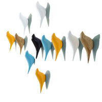 Żywica ścienna wieszak na kurtki dekoracja ścienna do domu stojak na ptaki w Wieszaki na ubrania od Meble na