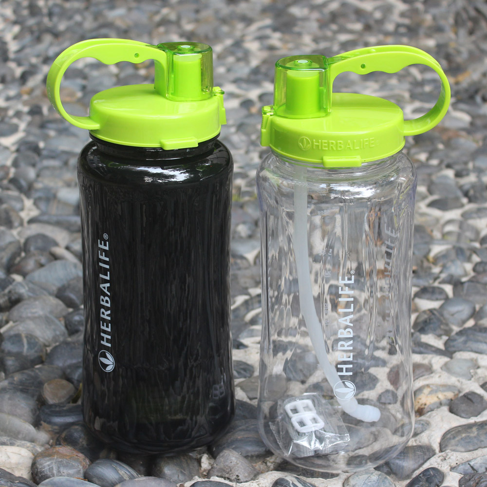 Wholesale 4PCS 6 Color 1L 2L large Capacity Water Bottle 1000ml 2000ml Portable Herbalife Nutrition Custom
