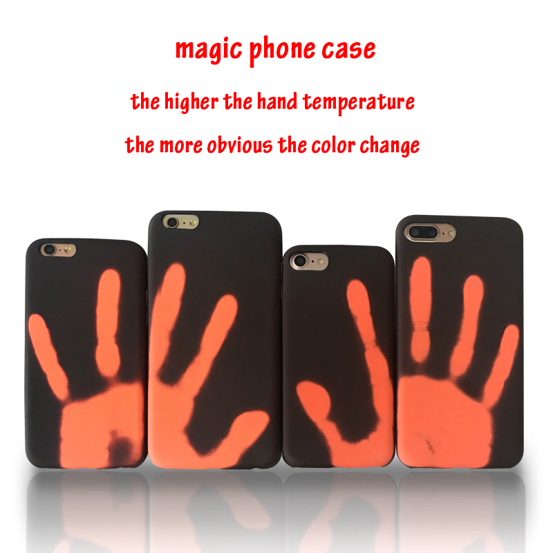 Магия Изменить Цвет Телефон чехол для 6 6 S 7 8 Температура зондирования изменить Цвет узор мягкий чехол для Iphone 6splus 7 Plus 8 Plus S