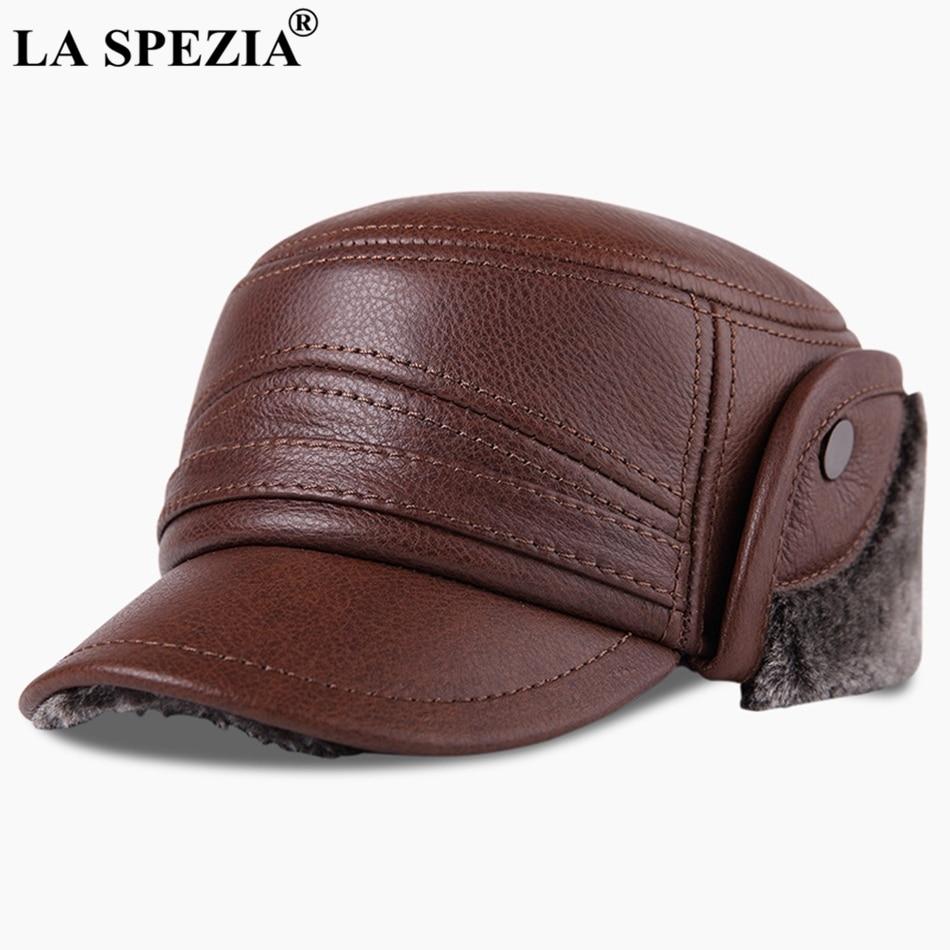87ab0deab3f La spezia bomber hats genuine leather ear flap cap men black warm jpg  950x950 Leather hats