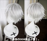 New Arrival Tokyo Ghoul Kaneki Ken Wig Short Straight Silver Gray Color Cosplay Costume Wigs