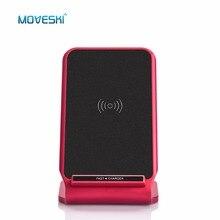 Moveski N11 индуктивной быстро Беспроводной Зарядное устройство Stand Pad сертификацией Qi для iphone 8 8 плюс iPhone X Samsung Galaxy Note 8 S8