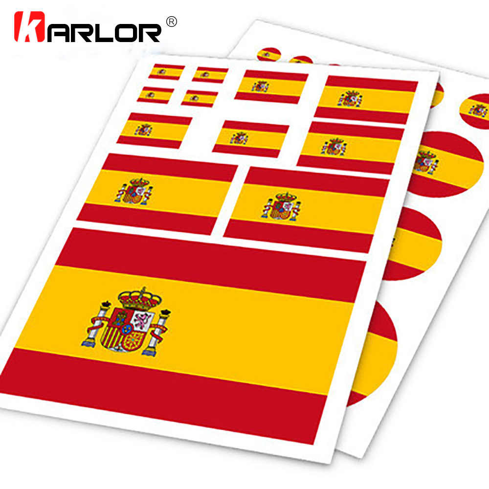 Spanish Flag Espanol Spain ESP Ho Car Auto Motorcycle Decal Set Sticker Scratch Off Cover Ipad Notebook Laptop Handy Car Styling