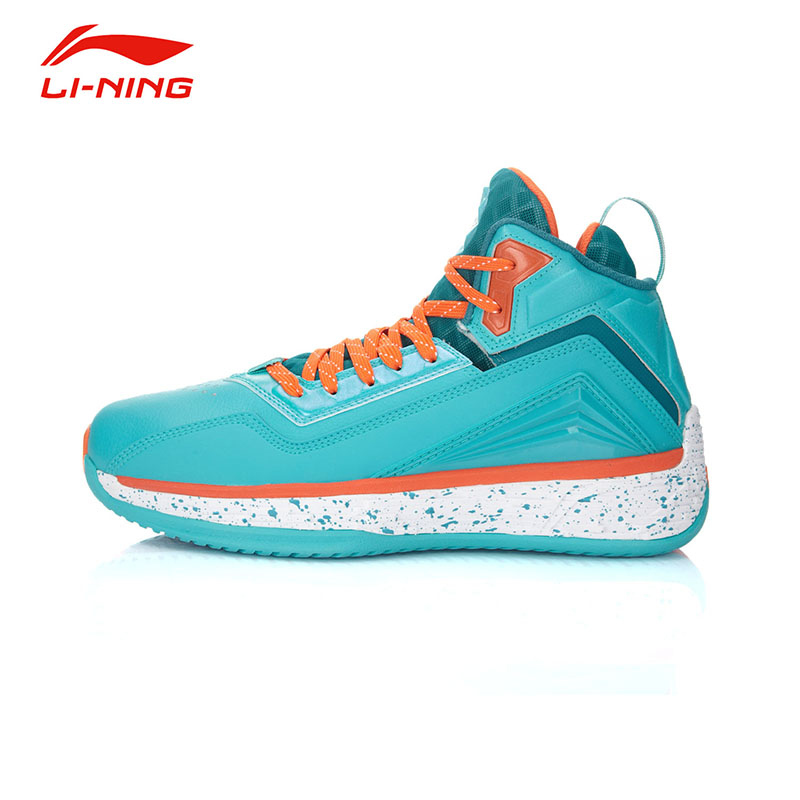 Li-Ning Men's Impact resistance Basketball Shoes Li Ning Anti-Slip Damping Lace-Up Outdoor Wearproof Sports Sneakers ABFK011 original li ning men professional basketball shoes