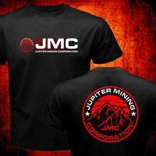 Мужская футболка с круглым вырезом, Повседневная футболка с красным карликом Jupiter Mining Corporation Jmc, Космический корпус, 2019