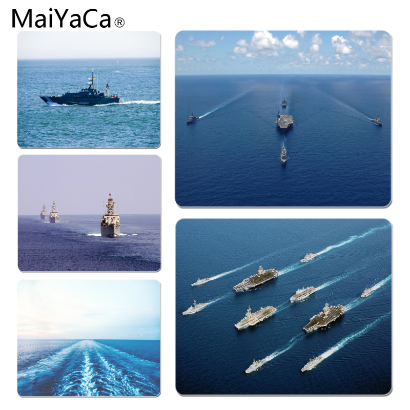 MaiYaCa Warships on the sea Customized laptop Gaming mouse pad Size for 18x22x0.2cm Gaming Mousepads