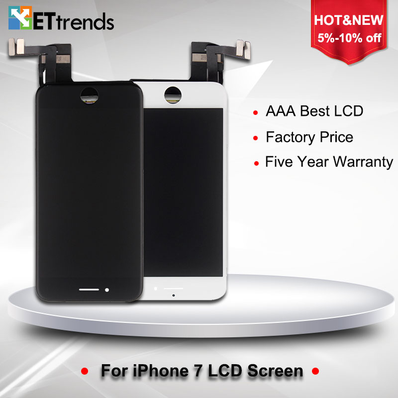 10PCS/LOT For Youda AAA LCD Display for iPhone 7 LCD Screen Digitizer Touch Glass Screen with LCD Assembly DHL Free Shipping