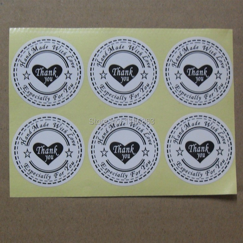 Merry Christmas Stickers Round 30mm Self-Adhesive Printed