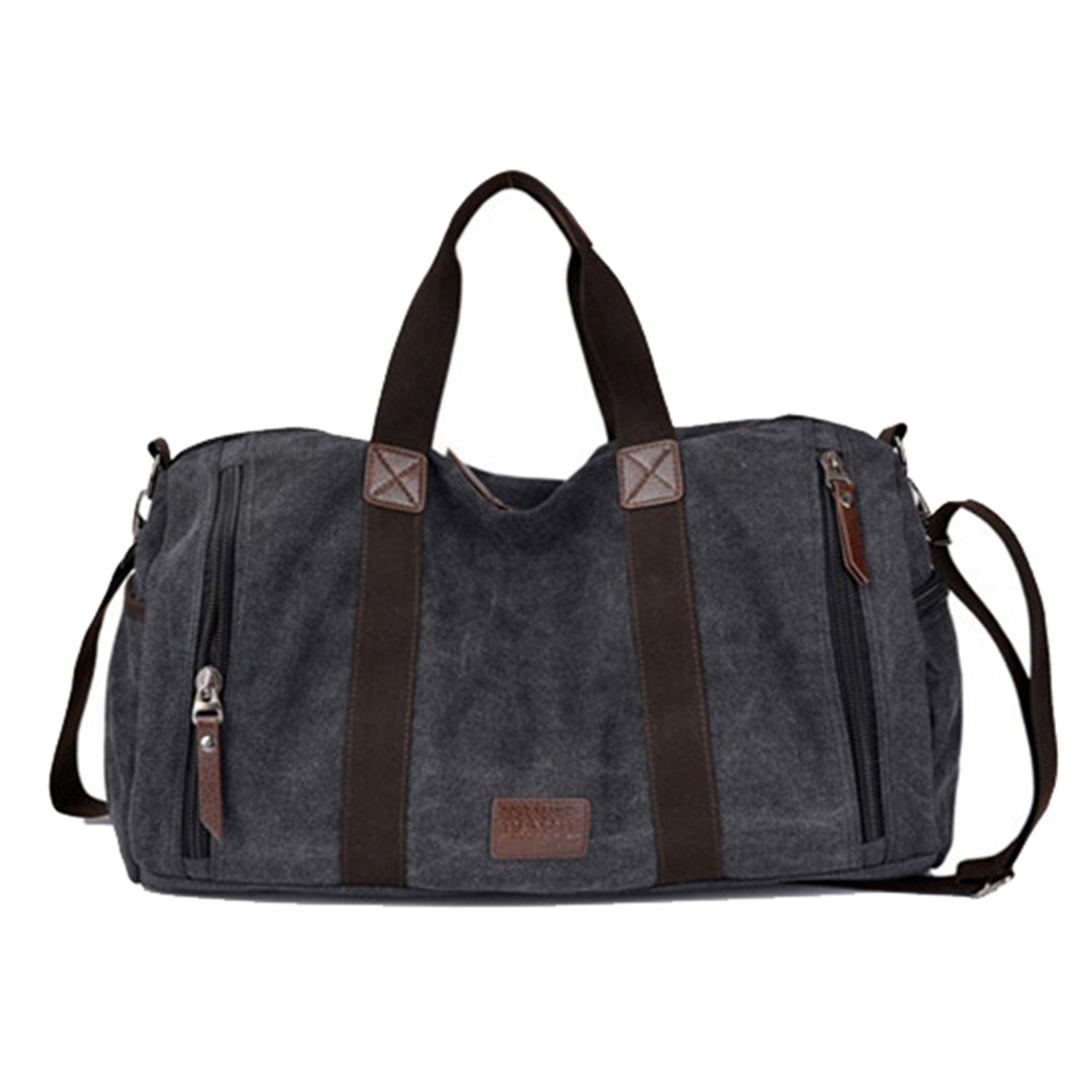 Large Capacity Men Hand Luggage Travel Duffle Bags Canvas Travel Bags Weekend Shoulder Bags Multifunctional Overnight Duffel Bag men army men s bags large capacity travel one shoulder backpack tactics chest package travel shoulder bag