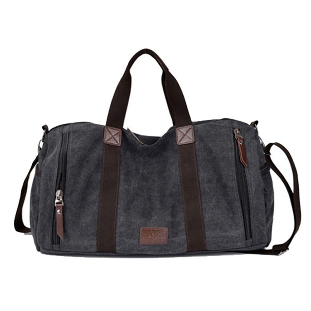 купить Large Capacity Men Hand Luggage Travel Duffle Bags Canvas Travel Bags Weekend Shoulder Bags Multifunctional Overnight Duffel Bag недорого