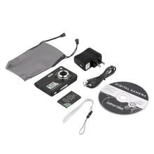 100% Brand New High Quality Black Digital Camera Camcorder TF card JPEG/AVI CMOS Senor 2.7 TFT LCD HD 720P 8x Zoom Anti-shake