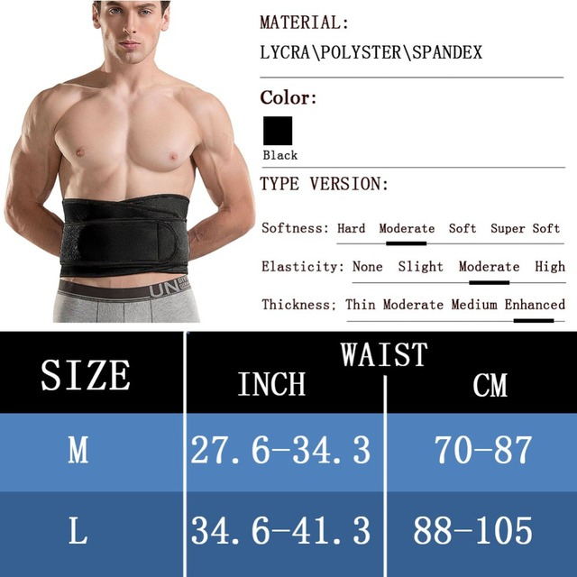FeelinGirl Men Modeling Belt Unisex Sweat Sauna Waist Trainer Thickening Neoprene Body Shaper Workout Waist Cincher Shapewear 1