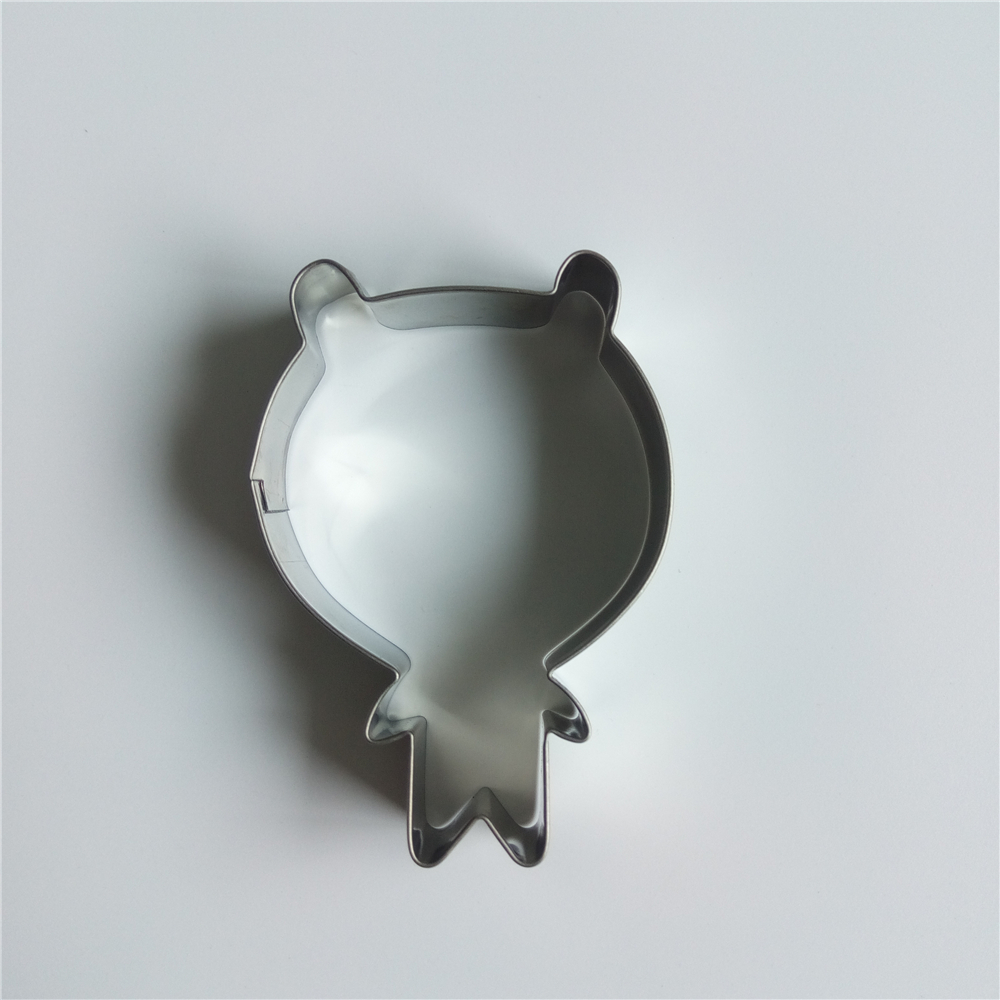 AMW Cute Bear Shaped Cookie Cutter Mold Stainless Steel