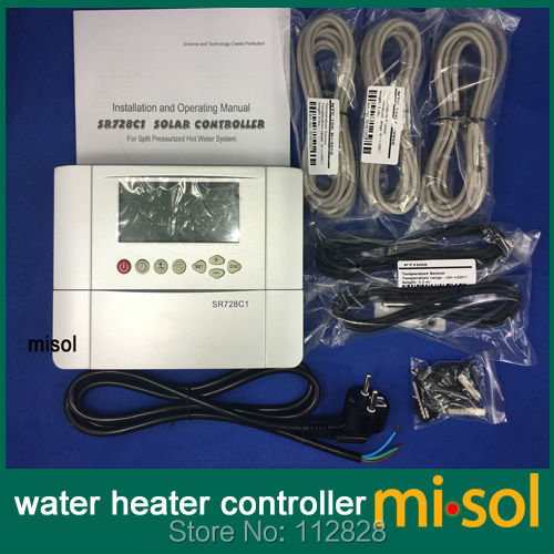 110V controller of solar water heater with 5 sensors, for separated pressurized solar hot water system 100 liter solar water heater tank 220v with copper coil with electrical element solar water tank