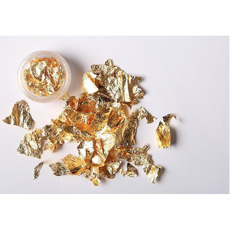 BinHin Nail Foil Paper Gold Silver Irregular Aluminum Nail Art Sticker Glitter Flakes DIY Design Manicure Decoration Tools