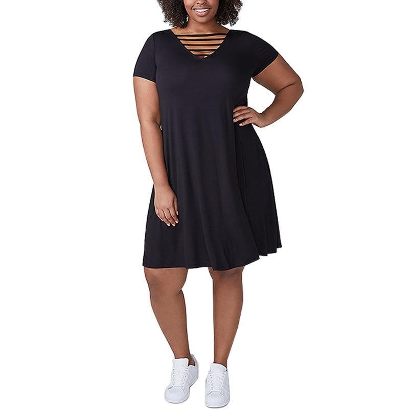 African India Folk Summer Dress Casual Beach Women Dresses Plus Size 6XL Sexy Bandages V Neck Large Size Midi Dress Black Blue