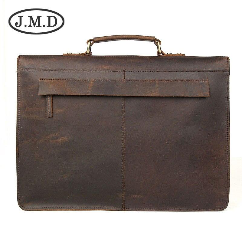 Taschen Laptop Schulter Aktentaschen Tasche Jmd Messenger Dark Leder Brown Verdienen Dunkelbraun Sie Besitzen Herren 7223 Zu Vintage Bz8Y4