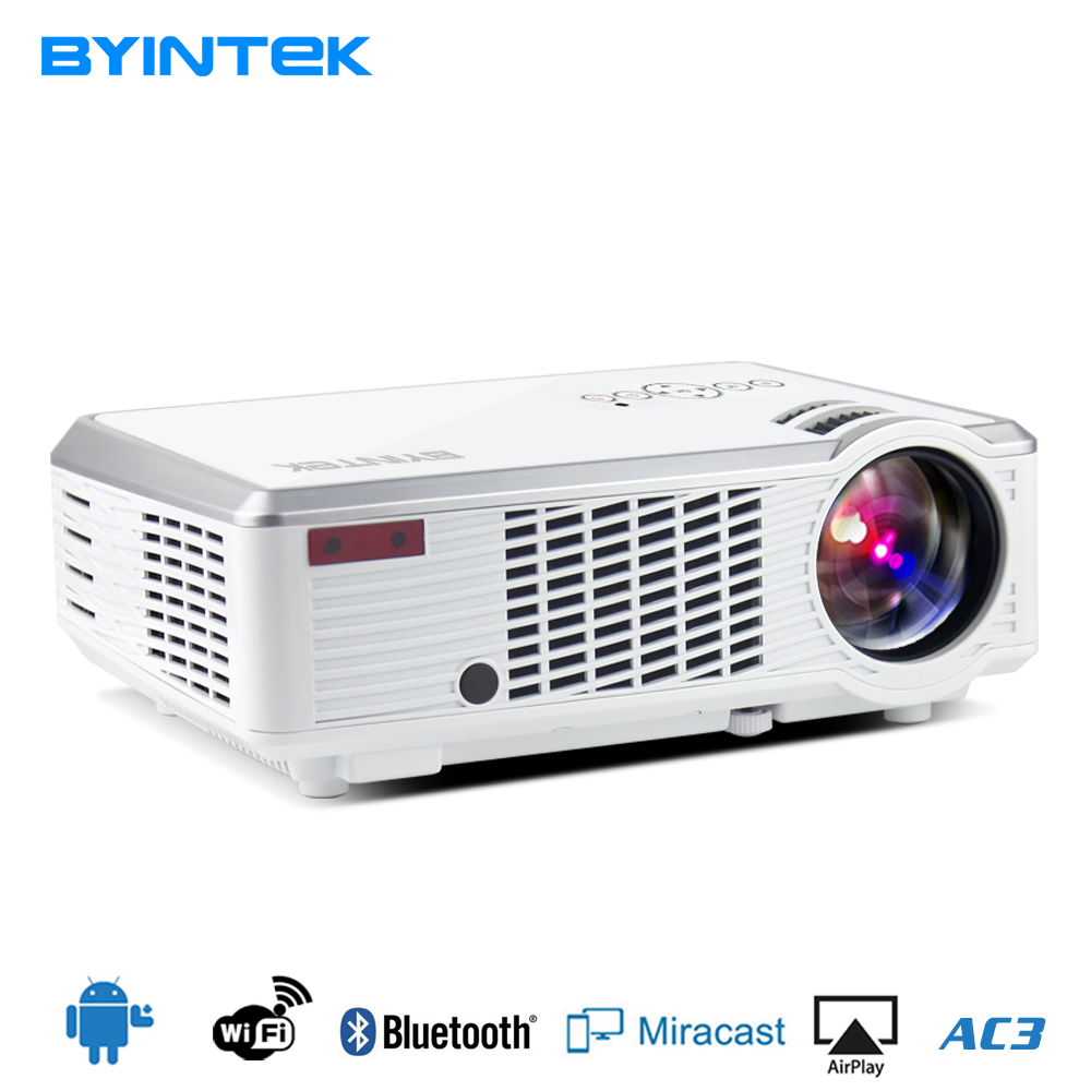 BYINTEK Brand projector BL110 Smart Android Home Theater Portable HDMI USB LCD LED Video Projector HD