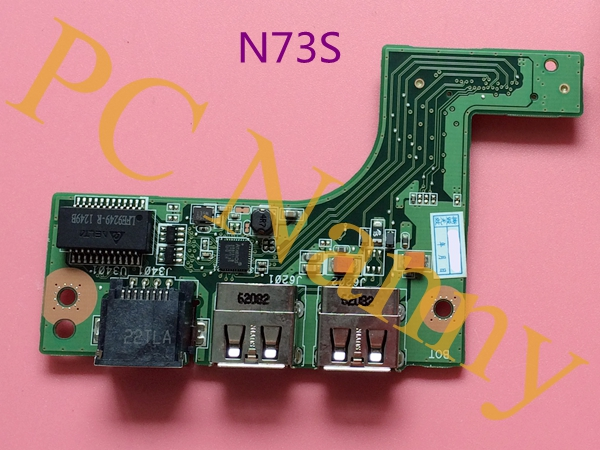 GENUINE FOR ASUS N73 N73J N73JQ N73JF N73JN ETHERNET BOARD USB BOARD