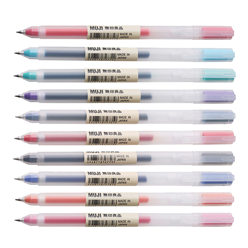 Multicolor MUJI Gel Pen Set 0.38mm 0.5mm Colors Smooth Ink Drawing Pens School Supplies Cute Bullet Journal Stationary Papeleria