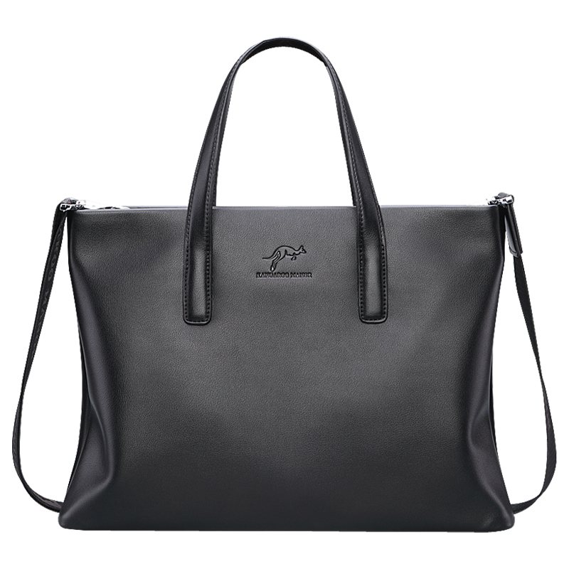 где купить 2018 New Imported high-grade PU Leather Men bag Handbag Brand Design Fashion Briefcase Soft leather Male Shoulder Business bags по лучшей цене
