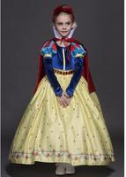 Free Shipping Girl Role Playing Halloween 100 150cm Dress Kid Child Snow White Princess Cosplay Birthday