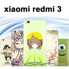 Xiaomi Redmi 3 hongmi 3 phone case Hard plastic case for xiaomi redmi3 case snapdragon 616 Cartoon xiaomi redmi 3 phone case