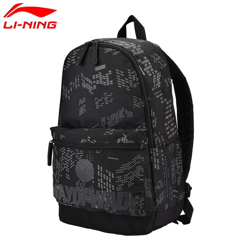 Li-Ning High Quality Men Wade Basketball Backpack Training Polyester Bags LiNing Leisure Sports Backpack Bag ABSM001 Q086