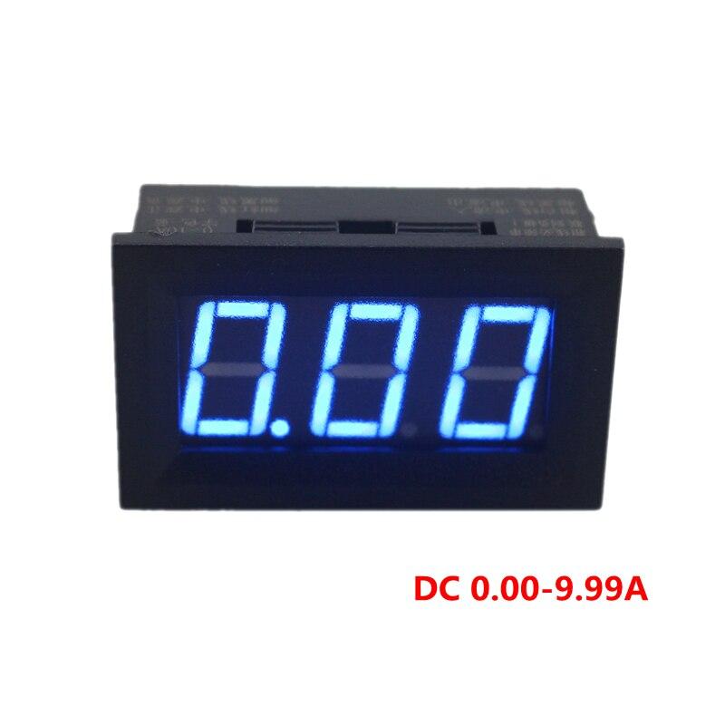 Амперметр постоянного тока 0-10 а сила тока в амперах синий светодиодный цифровой дисплей амперметр питание от постоянного тока 4,5-28 в