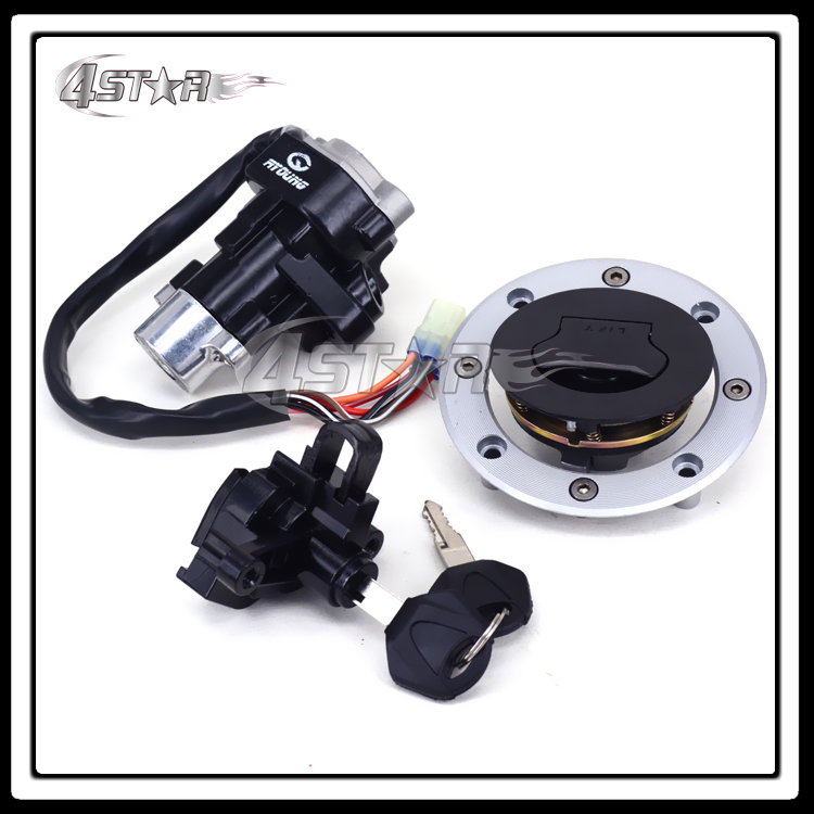 Free Shipping Motorcycle Lockset Ignition Key Switch Fuel Gas Cap Lock Keys For GSF Bandit GSF600 1995-2004 GSF1200 1997-2005