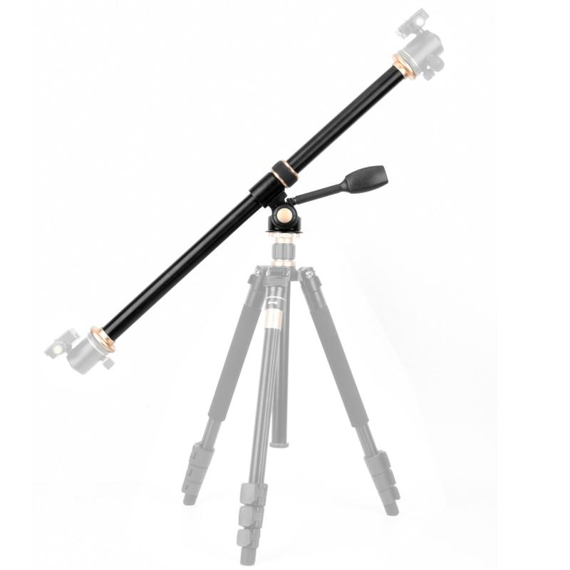 61cm Tripod Extension Arm Horizontal Centre Column Boom Rotatable Tripod Cross Tube Accessory for Overhead Photography Video