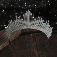 PEORCHID Vintage Bride Headband Women Accessoire Mariage Fille Beauty Pageant Crown Crystal Bridal Big Tiaras For Weddings 2019