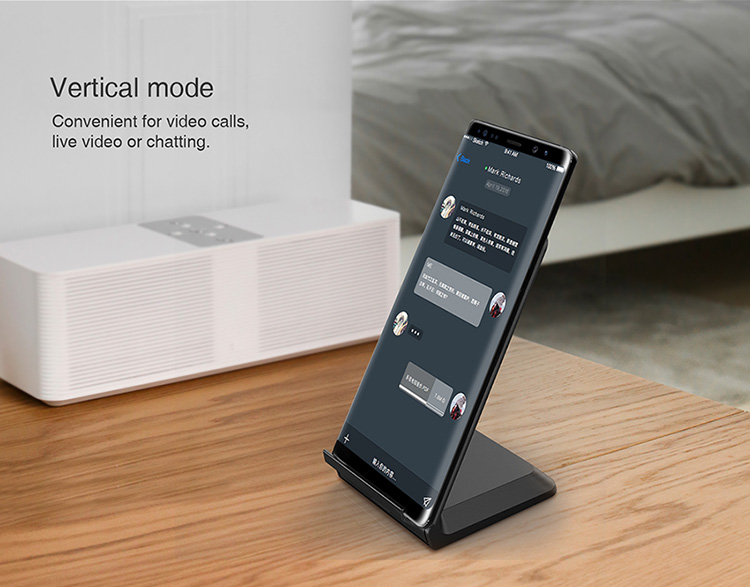 Fast Qi Wireless Charger For Samsung S8 Plus S7 Nillkin Stand Qi Wireless Charger For iPhone X 8 Plus Huawei and Other Phone