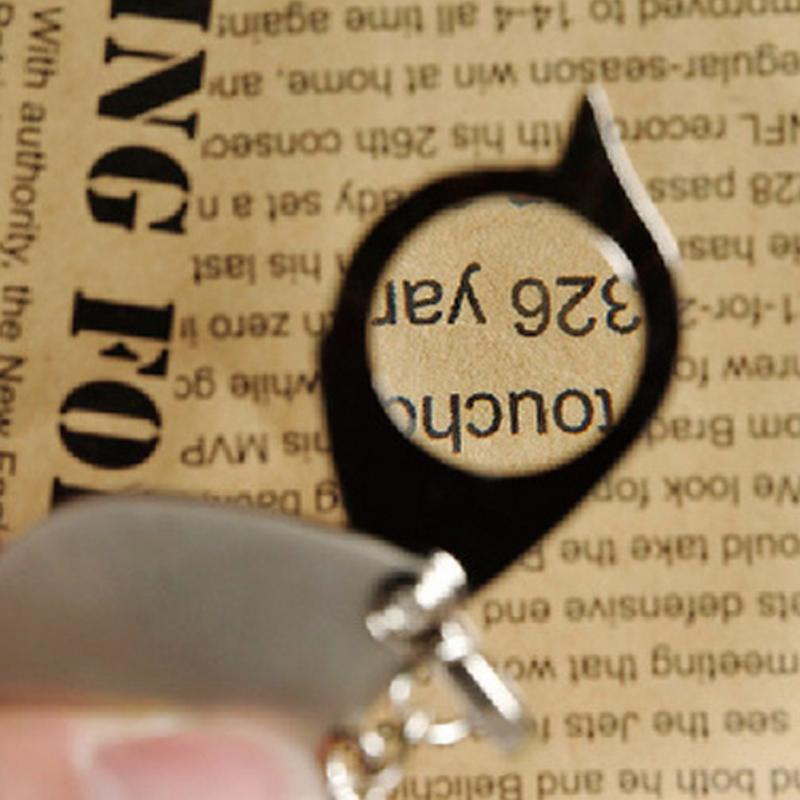 Mini Pocket 10X Microscope Magnifier Loupe Jewelry Key Ring Folding Magnifier Easy Carry