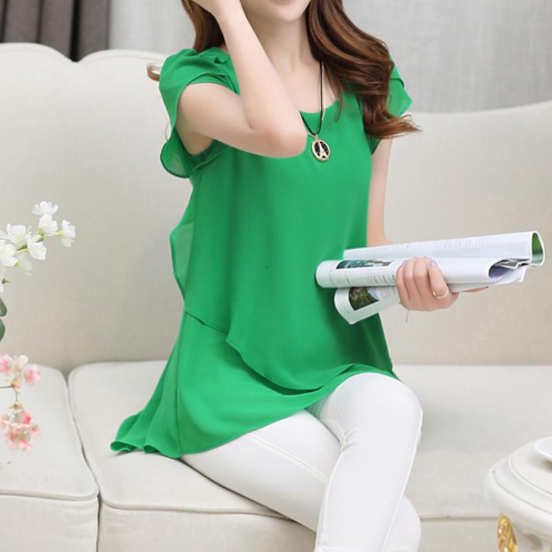 short sleeve chiffon blouse (25)